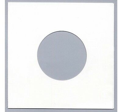 100 7  / 45 Rpm PAPER RECORD SLEEVES COVERS - WHITE - NOW 10% THICKER - 90 GSM • 9.15£