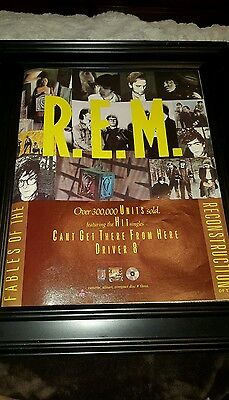 R.E.M. Fables Of The  Reconstruction Rare Original Promo Poster Ad Framed!  • 38.19£