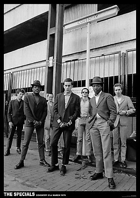 The Specials Coventry 1979 NEW A1 Size 84.1cm X 59.4cm - Approx 33  X 24  Poster • 6.99£