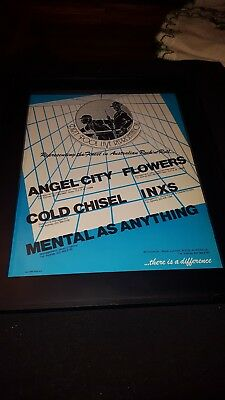 INXS, Cold Chisel, Angel City, Flowers Rare Dirty Pool Promo Poster Ad Framed! • 36.28£
