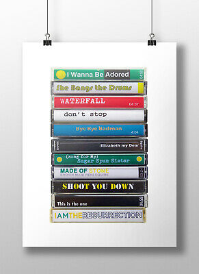 The Stone Roses Print Poster Art, Stone Roses Fan, Vintage Cassette, Debut Album • 13.29£