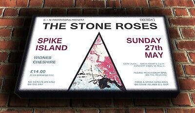 Stone Roses - Spike Island Canvas Wall Art Picture Print 25 X16  (63x40cm) • 20£