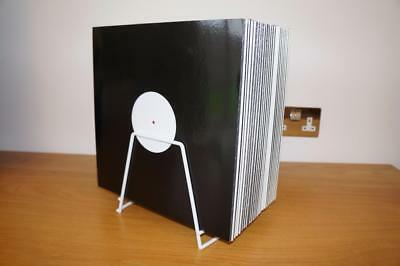 Vinyl Record Storage Rack 12  LP Singles Stand Holds Approx 45 Records • 15£