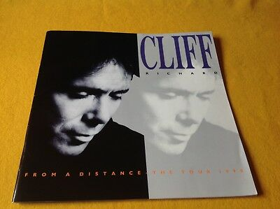 Cliff Richard :From A Distance Tour Programe 1990 30 Page CONCERT BOOKLET  SA20 • 15.99£
