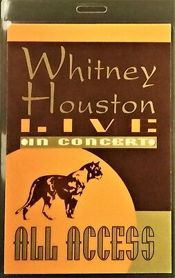 *** Whitney Houston ***  Laminated Backstage Pass - Live In Concert - All Access • 19.11£