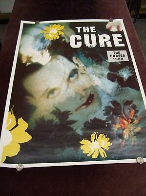 THE CURE  THE PRAYER TOUR  POSTER SUPER RARE UK 1980's GOTHIC ROCK NEW WAVE ETC • 187.97£