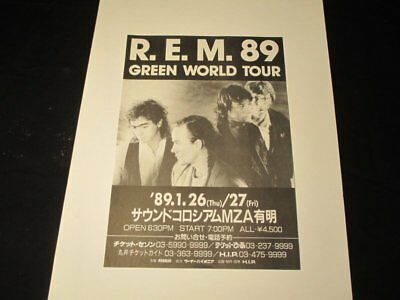 REM 1989 Japanese Concert Flyer Original Print Only One Near Mint Free Shipping! • 13.82£