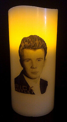 Rick Astley Electronic Flameless Flickering Candle • 9.99£