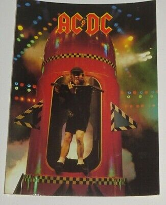 AC/DC Angus Young Unused 1989 POSTCARD • 1.99£