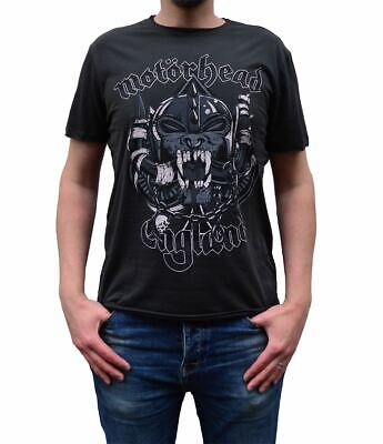 Amplified Motorhead Snaggletooth Crest Charcoal Crew Neck T-Shirt • 17.99£
