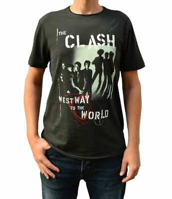 Amplified The Clash Westway To The World Charcoal Crew Neck T-Shirt • 17.99£