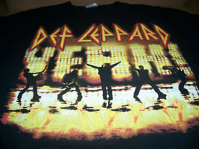 Def Leppard Tour Shirt Size Medium Black Vtg 2006 • 11.02£