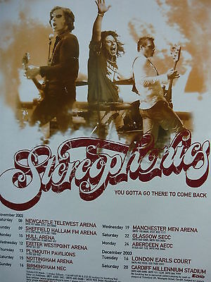 Stereophonics - Magazine Cutting (full Page Advert) (ref Md) • 4.50£