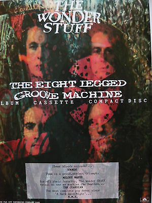 The Wonder Stuff - Magazine Cutting (full Page Advert) (ref Sg) • 4.50£