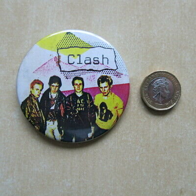 THE CLASH Vintage 1970s / 80s Pin Badge 63mm • 34.99£