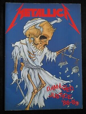 METALLICA - DAMAGED JUSTICE Official Tour Programme 1988-89, Exc Condition • 28£