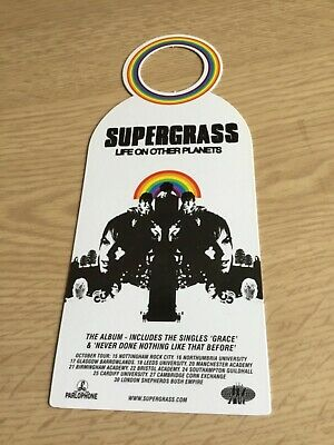 Parlophone Promo Supergrass Door Hanger 'Life On Other Planets' Rare Gaz Coombes • 5.99£