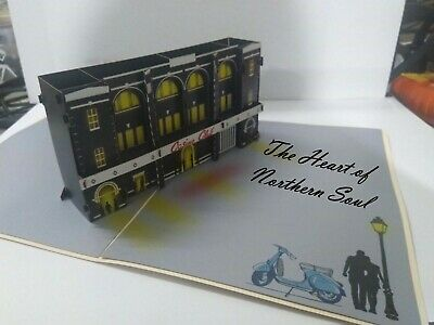 Northern Soul Wigan Casino 3D Pop Up Northern Soul Greeting Cards COLLECTIBLE • 4.95£
