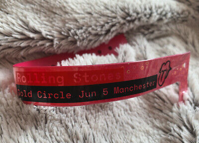 RARE! Rolling Stones Manchester 5 June 2018, Gold Circle Wristband • 29.99£