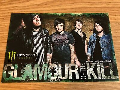 GLAMOUR OF THE KILL (GOTK) SIGNED A5 Flyer 2009 Dragonforce Sabaton Sylosis • 9.95£