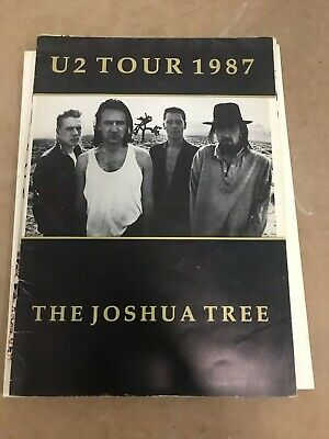 U2 The Joshua Tree UK Tour 1987 Programme • 1£