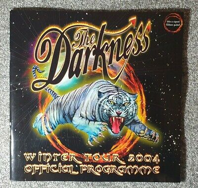 The Darkness Official Tour Programme 2004 Justin Hawkins • 12.99£