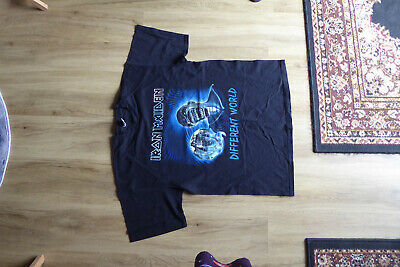 Iron Maiden Different World Tour SHORT SLEEVE T SHIRT. XL • 4.60£
