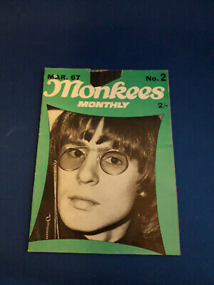 Vintage Collectable The Monkees Monthly Magazine No2 1967 • 1.80£