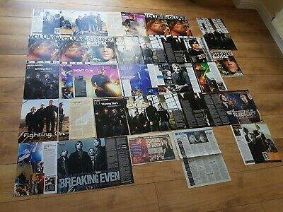 Fightstar Newspaper Articles Poster Kerrang Charlie Simpson Busted James Bourne • 2.99£