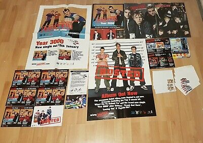 Busted McBusted James Bourne Year 3000 Promo Posters Letter Postcards Cuttings • 3.99£
