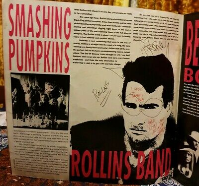 Signed By Smashing Pumpkins,L7,Therapy,Rollins &More-Reading 1992 Program • 140£