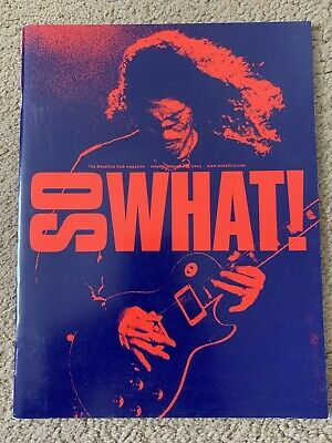 Metallica So What Magazine Volume 10 Issue 3 Bonus Poster Inside • 2.60£