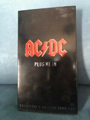 Ac/dc Plug Me In - Collectors Edition 3 Dvd Box Set . Approx 7 Hours • 20£