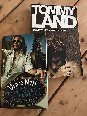 Tommy Lee Tommyland & Vince Neil Tattoos And Tequila Books. Motley Crue • 10£