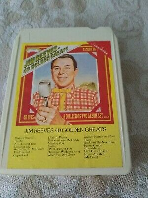8 Track Cartridge Tape - Jim Reeves 40 Golden Greats Vol.1 • 0.99£