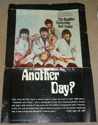 THE BEATLES YESTERDAY AND TODAY Butcher Cover 1973 US Made POSTER  • 9.99£
