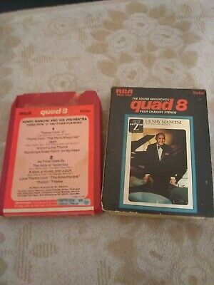 Quad Quadraphonic 8 Track Tape - Henry Mancini And His Orchestra Theme From  Z   • 6.99£
