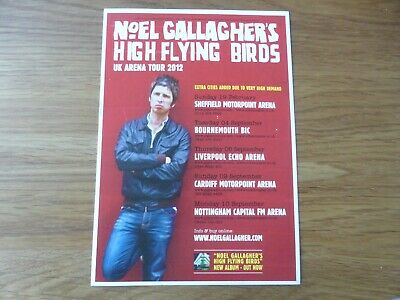 NOEL GALLAGHER'S HIGH FLYING BIRDS -rare Official UK Tour Flyer 2012 - Oasis NEW • 1.99£