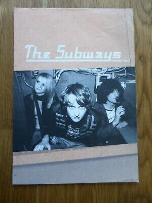 THE SUBWAYS - Rare Official Fanzine / Fold Out Poster - Volume 2 - NEW • 1.49£