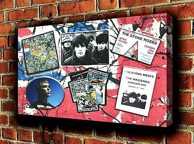 Stone Roses - Montage  Canvas Wall Art Picture Print 25 X16  (63x40cm) • 20£