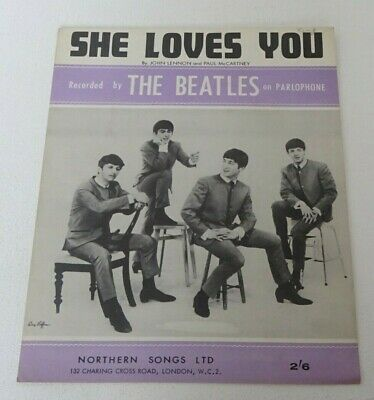 THE BEATLES SHE LOVES YOU Northern Songs Original SHEET MUSIC 1963 • 4.99£