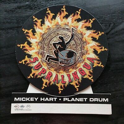 Mickey Hart Planet Drum Easel Back Counter Standee Promo Display 1998 • 15.63£