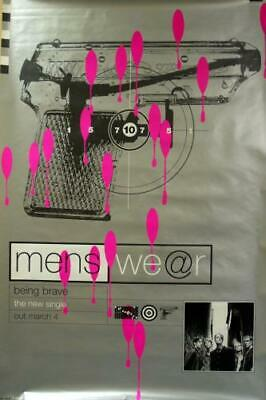 Menswear Being Brave Poster UK Promo 60 X 40 LONDON RECORDS 1996 • 29.70£