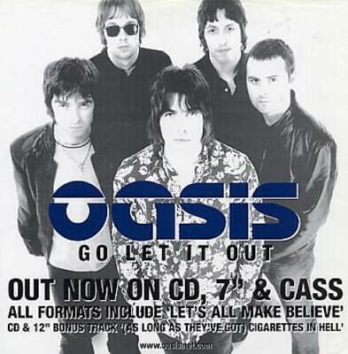 Oasis Poster Go Let It Out USA Promo PROMOTIONAL EPIC • 27.70£