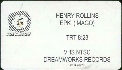 Henry Rollins EPK Video (VHS Or PAL Or NTSC) USA Promo PROMO VIDEO DREAMWORKS • 15£