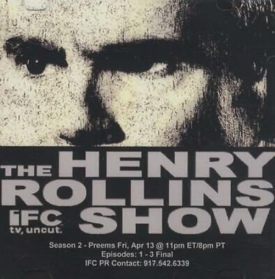 Henry Rollins The Henry Rollins Show DJ DVD-R USA Promo DVD-R ACETATE IFC 2007 • 17.49£