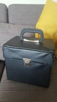 Vintage Record Case 45 1970s And 80s In Black Handle/lock Works Fine .no Splits  • 8£