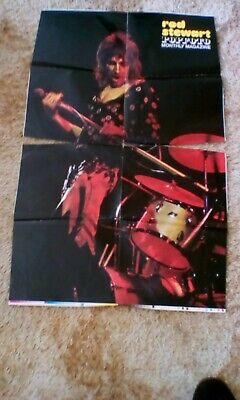 Rod Stewart Poster / The Sweet .Two Sided Poster ,with Some Damaged ,some Rips . • 2.30£
