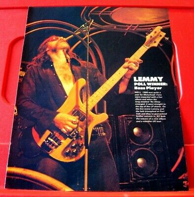 Lemmy/Motorhead Vintage ORIGINAL 1982 Kerrang Full Page ARTICLE/PHOTO/POSTER • 1.99£