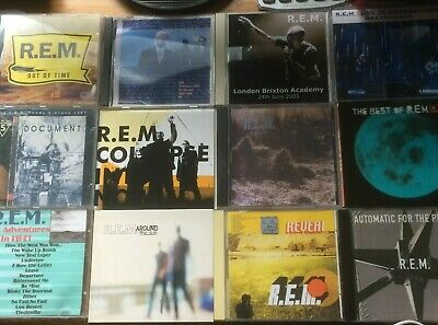 R.E.M. Ultimate Fan Collection Of 20 CDs, Various Scarce Newsletters, Photos Etc • 50£